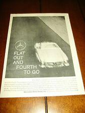 1959 MERCEDES BENZ 300 SL ***ORIGINAL VINTAGE AD***