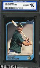 1997 Bowman #210 Eric Chavez Oakland Athletics ISA 10 GEM MINT