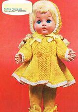 "Dolls clothes knitting pattern.10"" & 12"" doll. Laminated copy. (V Doll 60)"