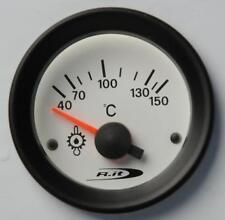 Manometro Strumento Road Italia VDO Style Temperatura Olio 40-150°C 52mm Bianco