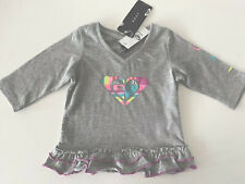 BNWT ROXY BABY TODDLER SUPERSTRIPE T-SHIRT TOP SIZE 00 SO CUTE