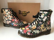 Dr. Martens 1460 Meadow Floral Printed Leather Boots Sz UK6 *Made in England