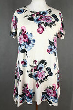 NEW WOMEN  TUNIC  size  14/16  TOP  SHORT SLEEVE  BLOUSE     1181