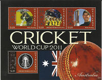 ST VINCENT 2011 ICC CRICKET WORLD CUP AUSTRALIA TEAM RICKY PONTING 4v Sheet MNH