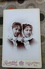 Rockford, Illinois Twin Sisters Cabinet Card