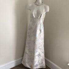 Carmen Marc Valvo Evening Gown Metallic Beaded Collar Sleeveless 4