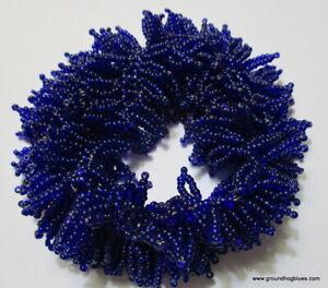 Woven Glass Beads Purple  Bracelet Art to Wear Fits Very Large Wrist