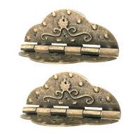 2Pcs Fashion Antique Brass Mini Hinges for Wooden Furniture Box Hardware #5