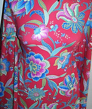 Scarlet Red Sample Cut Floral Swimsuit Weight Lycra Stretch Fabric 1 Yd 27 In