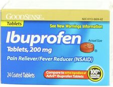 Good Sense Ibuprofen Pain Reliever/Fever Reducer Tablets 200MG 24 ea