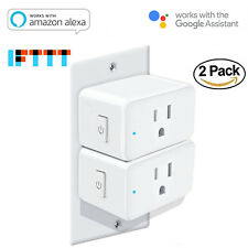 2PCS 2 PACK 15A 1800W WiFi Smart Plug, Alexa and Google Voice Control ETL