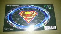 "Lot of 5 Superman Stick Onz Decals 5 1/2"" x 3"""