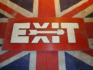 Vintage USAF US Exit Sign - RAF Lakenheath, UK