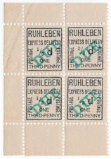 (I.B) Germany Cinderella : Ruhleben POW Camp - Express Delivery 1/3d (Due)