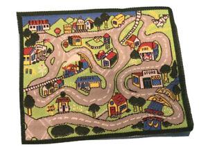 Dollhouse miniature rug, Child's Playmat