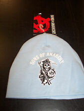 SONS OF ANARCHY ARCHED REAPER CLASSIC LOGO BLUE BABY BEANIE SKULL CAP NEW !