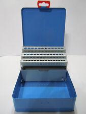 Spiralbohrer Leerkassette 6,0-10,0x 0,1mm 41-tlg Box Leer Metallkassette Magazin