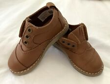 TOMS NEW BROWN FAUX LEATHER BABY BOY SHOES SO SWEET sz T6