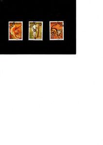 BULGARIE 1998 lot de 3 timbres chats de race
