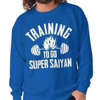 Training Super Funny Gym Workout Gift Goku Mens Crewneck Pullover Sweat Shirt