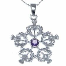Silver Amethyst Fine Gemstone Necklaces & Pendants