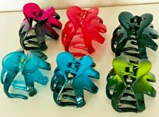 HAIR CLIPS CLAW UNBRANDED- ASSORTED MADE IN KOREA 6 PIECES