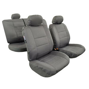 For Holden Colorado Canvas Seat Covers Full Set Dual Cab 2012-2020 Airbag Safe