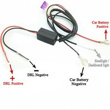 Car DRL LED Daytime Running Light Dimmer Relay Harness On Off Control Switch 12V