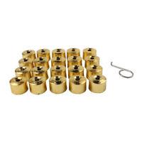 20x17mm Golden Car Wheel Nut Cover Lug Dust Bolt Cap +Tool For VW Golf MK4 Audi