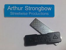 Blue Engraved 75x19mm Name Tag Badge - Magnet fastener