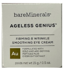 bareMinerals Ageless Genius Firming & Wrinkle Smoothing Eye Cream, 0.5 Oz