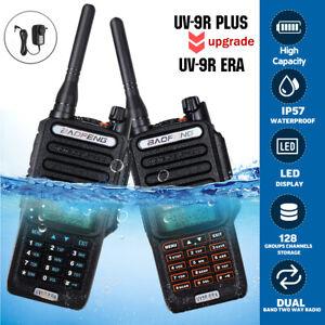 18W 2 Way Baofeng UV-9R Plus Walkie Talkie VHF UHF Dual Band Waterproof Handheld