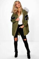 Abrigos y chaquetas de mujer parka de piel sintética