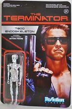 """T-800 ENDOSKELETON CHROME The Terminator 3 3/4"""" inch Reaction Retro Figure 2014"""