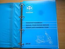 Officina MANUALE PIAGGIO ZIP SP 50ccm werkplaats Handboek 10.1996