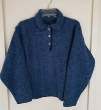 Womens REI Alps Blue Fox Harmony Long Sleeve 2 Button Pullover Sweater Sz M NWT