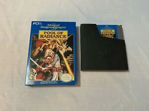 Advanced Dungeons & Dragons: Pool of Radiance (Nintendo, NES 1991) *CART & BOX*