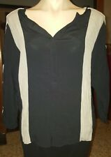WOMENS Sz 8 black grey & white BOUTIQUE 3/4 sleeve tunic LOVELY!