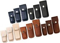 Pocket Knife Sheath Pouch Case Folding Blade Multi Tool Leather Basketweave