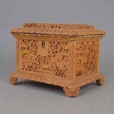 Coffret à bijoux Boîte en bois sculpté FORÊT NOIRE  de stye Chinoise