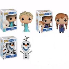 Set of Three Funko Disney Frozen Pop Vinyl Figures #81 Anna, #82 Elsa,  #79 Olaf