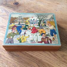 Ancien jeu de Cubes - Cirque manège plage scouts Patin à Glace - Vintage