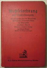 GAREIS: WECHSELORDNUNG 13. Aufl. 1926 / DEUTSCHE REICHSGESETZE / BECK