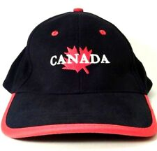 Canadian Baseball Cap Hat Maple Leaf Canada Pride Embroidered Adult Navy Red