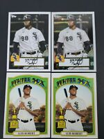 2021 Topps Heritage Luis Robert 4 Card Lot Redux Chrome Rookie Cup White Sox