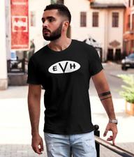 Van Halen Black T Shirt Retro Rock Music Band Tee XS-3XL