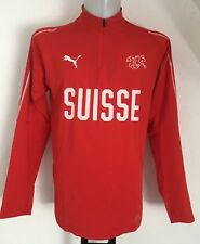 SWITZERLAND RED 1/4 ZIP TRAINING TOP  BY PUMA SIZE ADULTS MEDIUM BRAND NEW