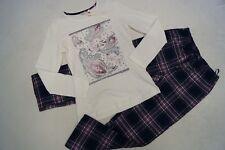 ESPRIT  Schlafanzug / Pyjama Gr.152/158, 164, 170/176 weiß blau lila kariert NEU