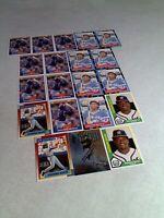 Geronimo Berroa:  Lot of 100 cards.....27 DIFFERENT / Baseball