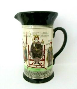 RARE ROYAL DOULTON SERIESWARE ANTIQUE JUG - BAYEUX TAPESTRY D2873 - EXCELLENT !!